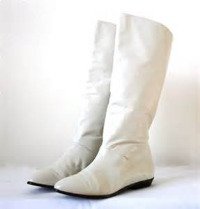 color boots knee high white boots leather colored us by