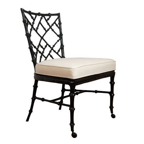 faux bamboo cast metal dining chair at 1stdibs