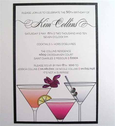 cocktail invitation card template cocktail invitations invitations templates