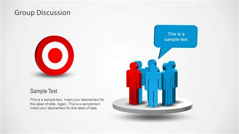 Ppt Templates For Group Discussion | 6135 01 group discussion for common goal 6 slidemodel