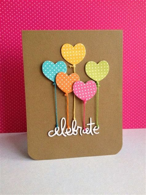 Easy Handmade Birthday Cards - handmade birthday cards pink lover