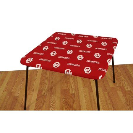 fitted card table covers covers fan shop oklahoma sooners fitted card table