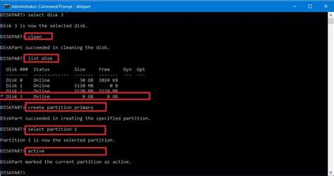 diskpart format quick fat32 diskpart ile hard disk veya usb bellek formatlama