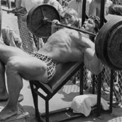 how much arnold schwarzenegger bench bench press