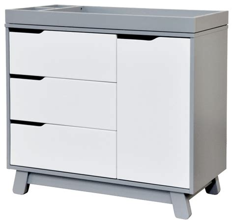 White Dresser And Changing Table by Hudson 3 Drawer Changer Dresser Gray And White Modern