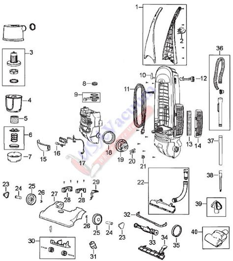 bissell vacuum parts diagram bissell 3576 cleanview ii bagless upright vacuum parts