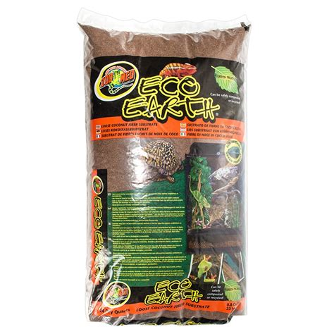reptile bedding zoo med zoo med eco earth loose coconut fiber substrate reptile soil bedding