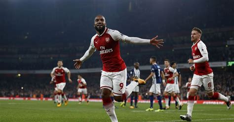 arsenal home record arsenal 2 0 west brom lacazette double maintains gunners