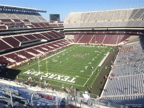 kyle field section map kyle field section 343 rateyourseats com