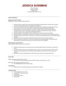 physical therapy resume sles home care physical therapist resume