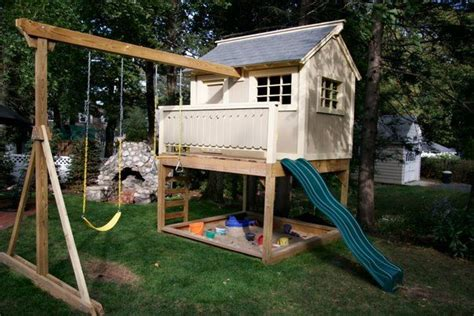 swing set playhouse plans playhouse swing set combo plans woodworking projects plans