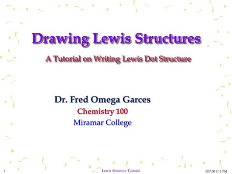 Drawing Lewis Structures by Ppt Drawing Lewis Structures A Tutorial On Writing Lewis