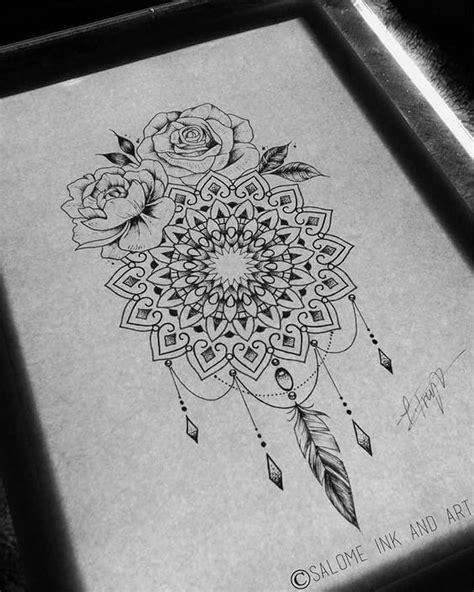 tattoo mandala feminina las 25 mejores ideas sobre dibujo del dreamcatcher en