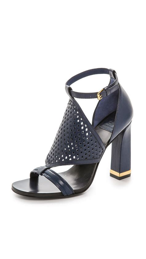 burch high heels burch doris high heel sandals newport navy in blue