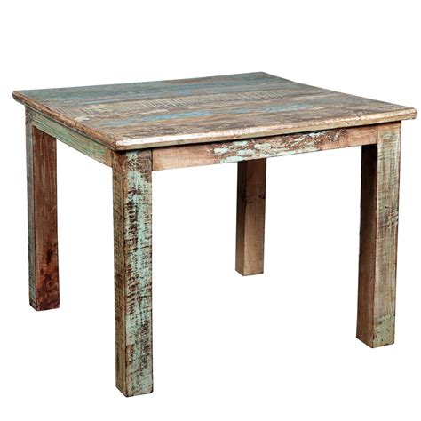 Small Wood Kitchen Tables Rustic Reclaimed Wood Distressed Small Kitchen Dining Table