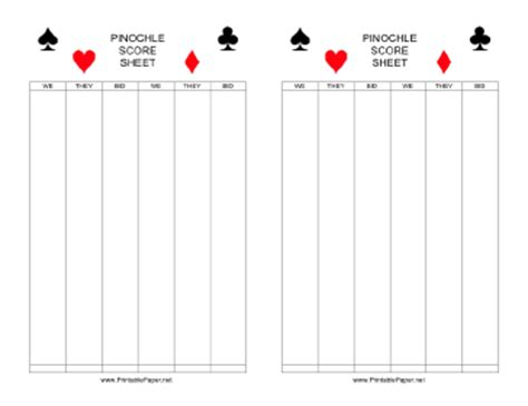 pinochle tally cards template cards editable free sumpah pemuda 17