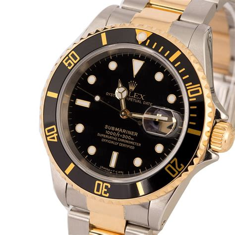 Rolex Oyster Submariner 2 pre owned rolex submariner 16613 two tone oyster