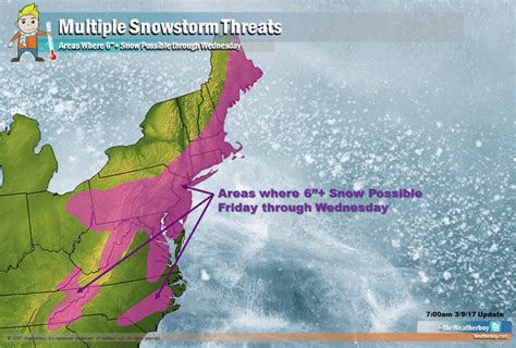 heavy snow to impact eastern us