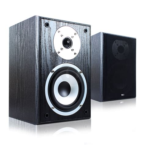 tibo edge 100 2 way bass reflex bookshelf speakers stereo