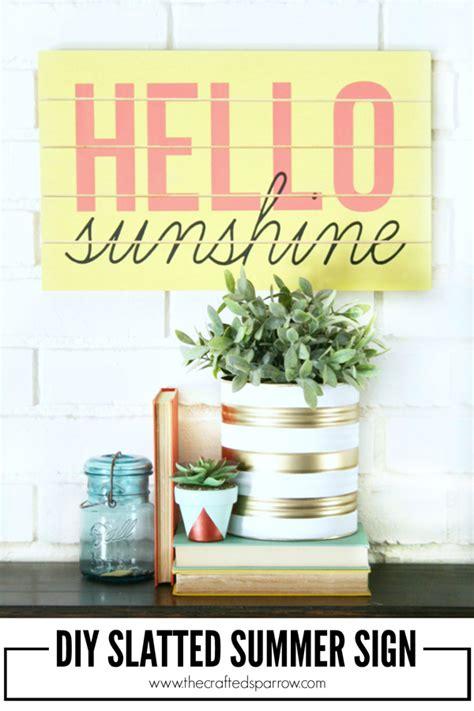 diy summer decorations for home diy summer sign