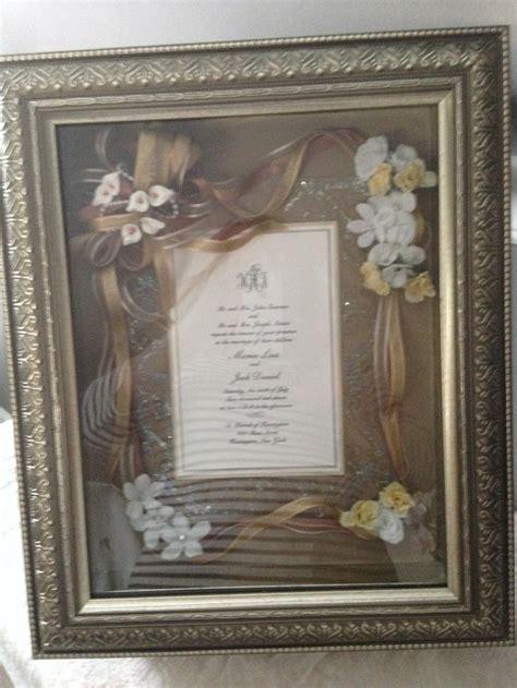 framed wedding invitation 15 best wedding invitations framed keepsake images on couples wedding presents