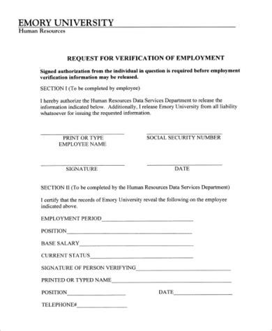 Employer Proof Of Employment Letter Sle authorization letter employment verification 28 images