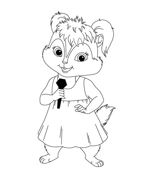 free coloring pages of britney chipette