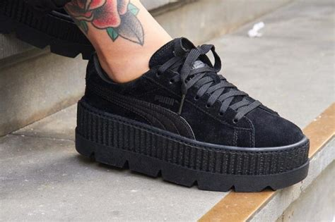 Premium Quality Fenty X Creepers By Rihanna Black Gum Sole suede archives sneakers actus