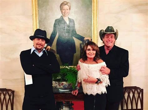 sean spicer obama portrait sarah palin ted nugent kid rock visit trump at white