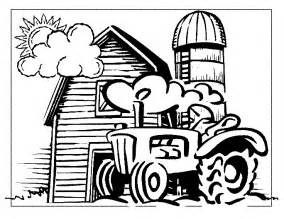 Farm Tractor Coloring Pages farm tractor coloring pages sketch coloring page