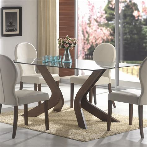Best Finish For Dining Table Contemporary Dining Casual Dining Table Walnut Coaster 120361