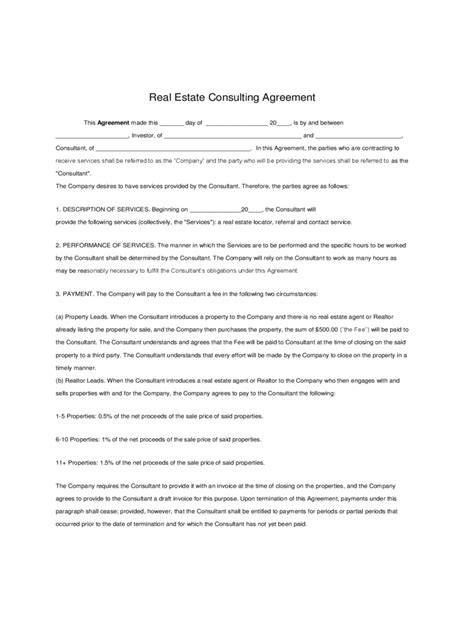 consulting agreement forms consulting agreement form 6 free templates in pdf word