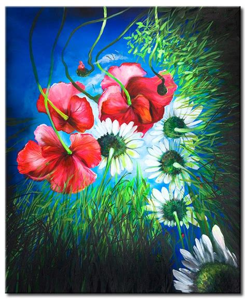 fiori di papaveri foto su tela fiori di co papaveri fiori quadri