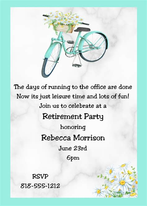 retirement party invitations invitations card