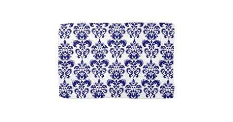 blue patterned hand towels navy blue white vintage damask pattern 2 hand towels zazzle