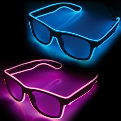 Electroluminescent L by Electroluminescent Wire El Wire Glasses