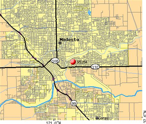 where is modesto california on a map zip code map modesto ca zip code map