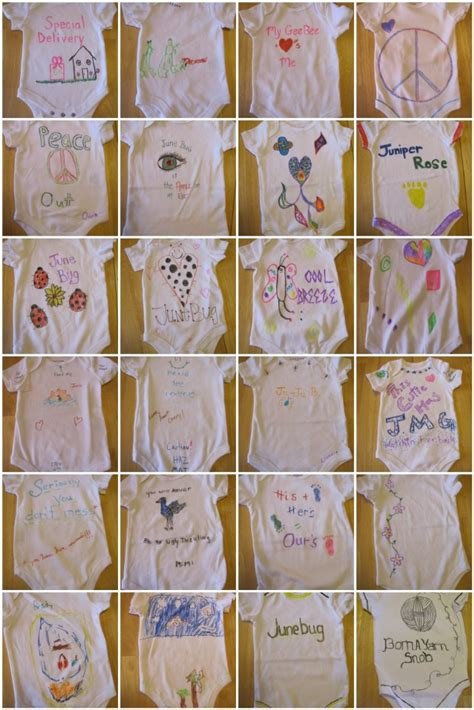 Onesie Painting Baby Shower by How To Paint Onesies At A Baby Shower Twisted Purl