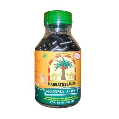 Habbatussauda Cap Kurma Ajwa 210 Kapsul Herbal gallery herbal center blibli