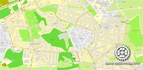 printable map brussels brussels bruxelles belgium printable vector street city