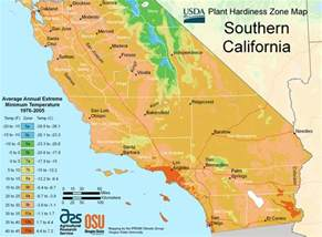 south california plant hardiness zone map mapsof net