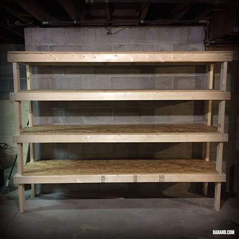 diy 2x4 shelving for garage or basement dadand