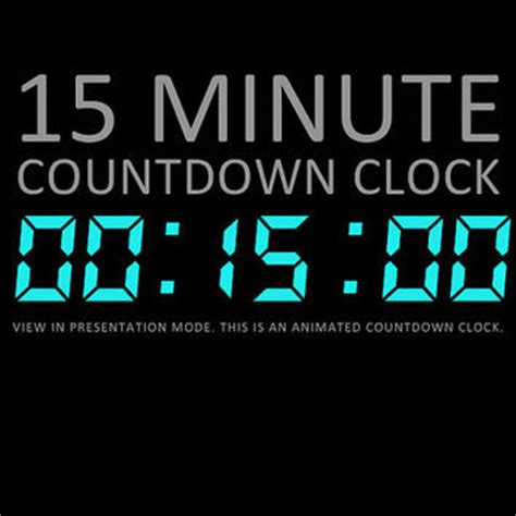 powerpoint countdown timer template 15 minute digital countdown clock from deckologie on etsy