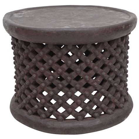 drum side table from cameroon at 1stdibs