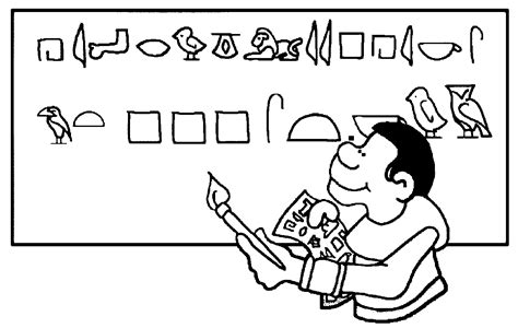 coloring pages for egyptian hieroglyphs egypt hieroglyphics coloring page wecoloringpage