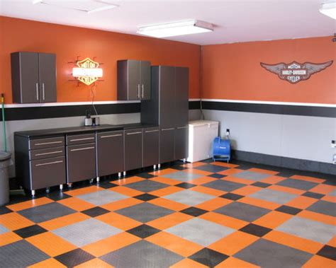 harley davidson garage home design ideas pictures
