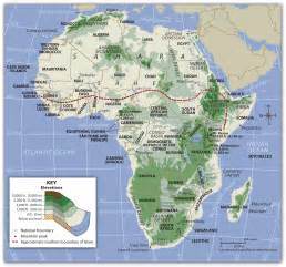 Map Of Africa Physical Features by Africa Physical Features Map Quiz Images Amp Pictures Becuo