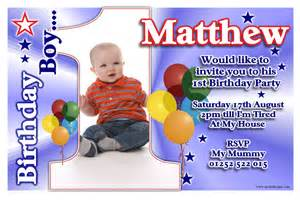 1st birthday invitations boy drevio invitations design