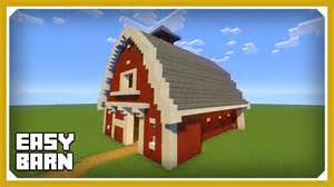 Barn In Minecraft minecraft how to build a barn house tutorial easy survival minecraft house