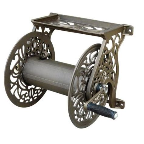 hton bay wall mounted hose reel 704 the home depot